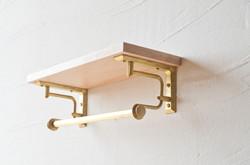 黃銅層架 - 紙巾架款(長)