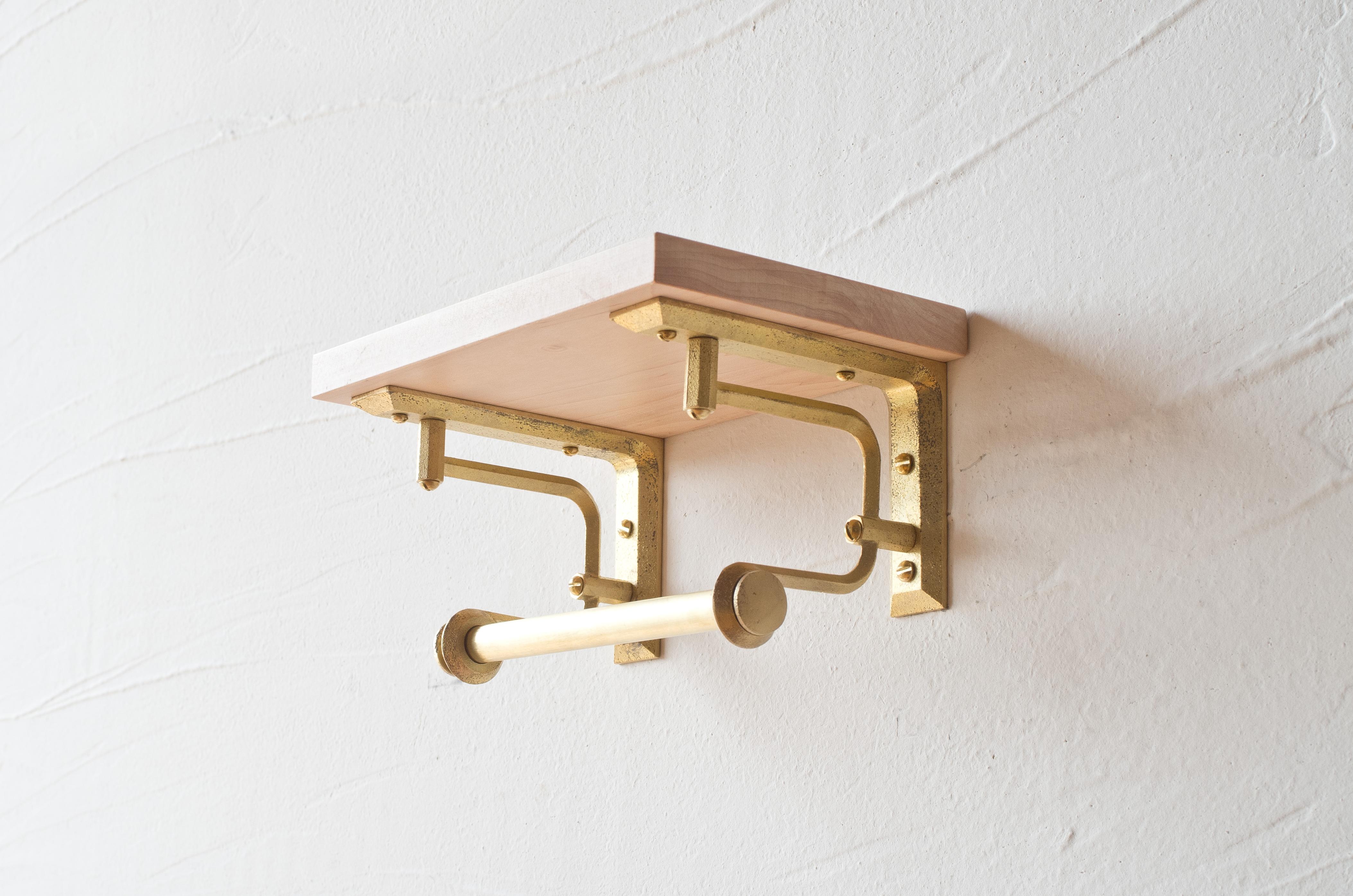黃銅層架 - 紙巾架款(短)