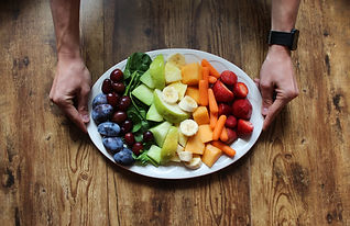health coach fitness coach wellness fruits and vegetables rainbow plate nutrition guide
