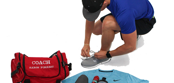 fitness blogger tie shoe gym bag workout gear equipment blog post