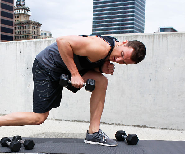 Fitness blog men dumbbell workout modern tricep extension