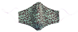 Green Leopard Reusable Face Mask Melbourne