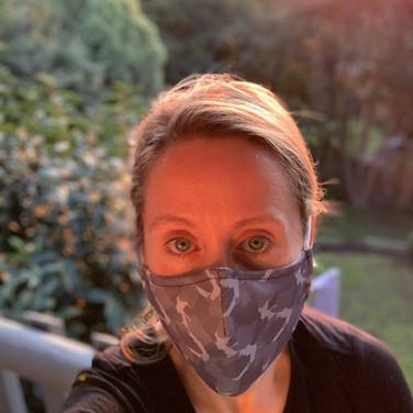 Glamoflage Face Mask grey maskselfie cli