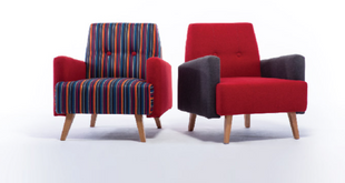 Fully upholstered armchairs