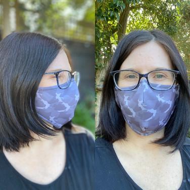 Glamoflage Glasses Face Mask