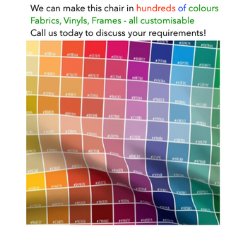 Custom Fabrics, Vinyl and Frame Colours