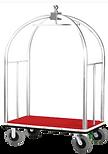 birdcage luggage cart