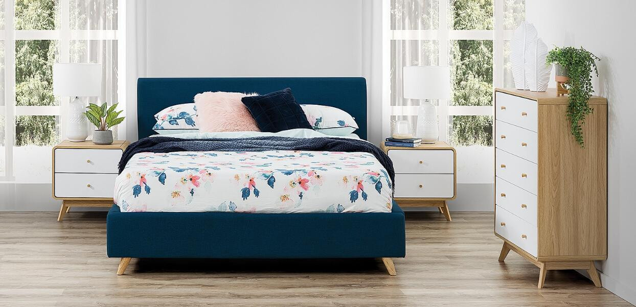 Coastal Blue Bed