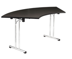 Crescent / Serpentine Table with Chrome Folding Legs
