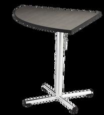 Quarter Round Table with Chrome Pedestal