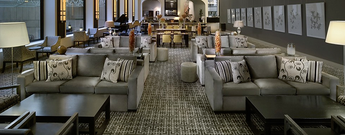 Mixed Loose Furniture in Hotel Lounge