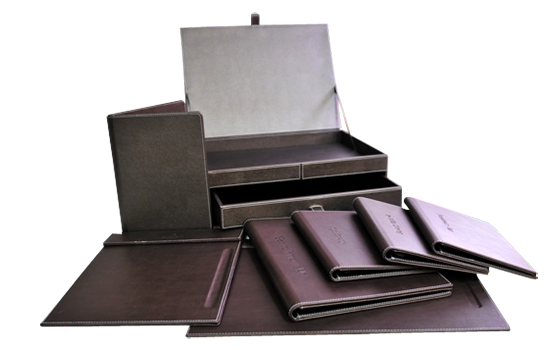 Hotel amenities range - leather