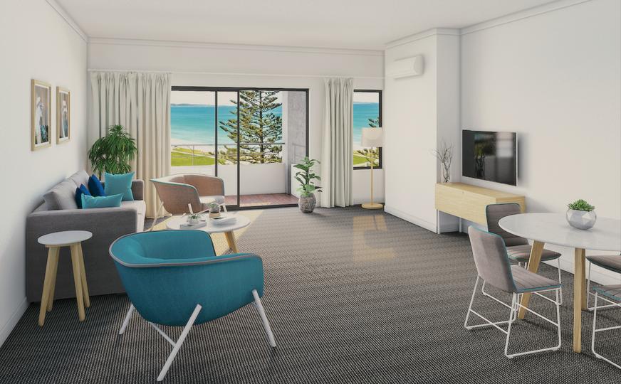 Resort serviced apartment living room