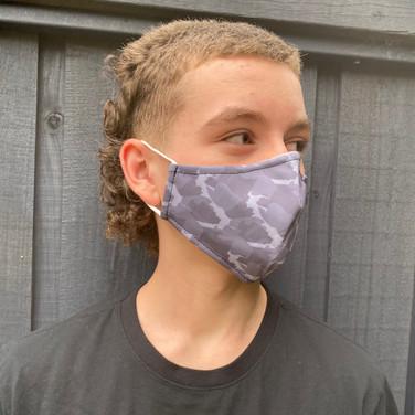 Camo Face Mask Kids Sizing