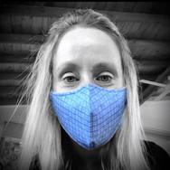 Blue Weave Face Masks