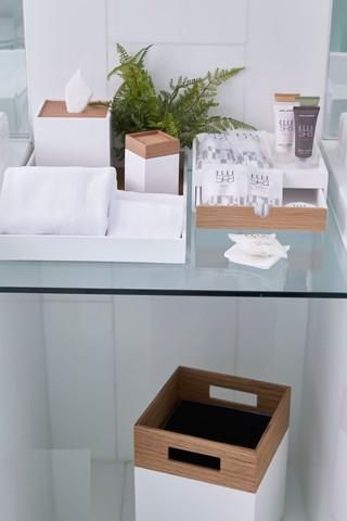 Timber and Resin Bathroom Amenity Tray Set