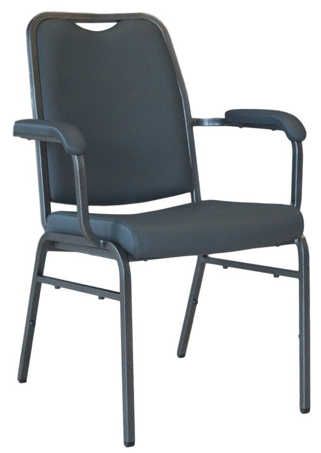 Helix with Arms Stacking Chair