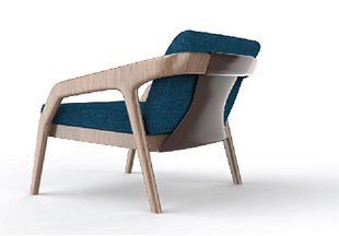 Solid timber hotel armchairs