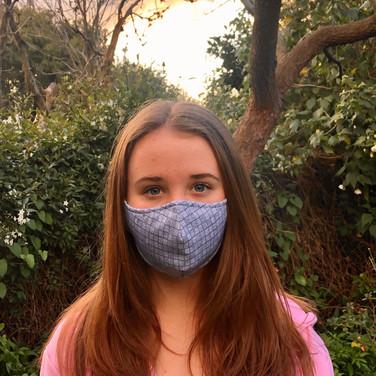 Blue Weave Face Mask client selfie 1.jpe