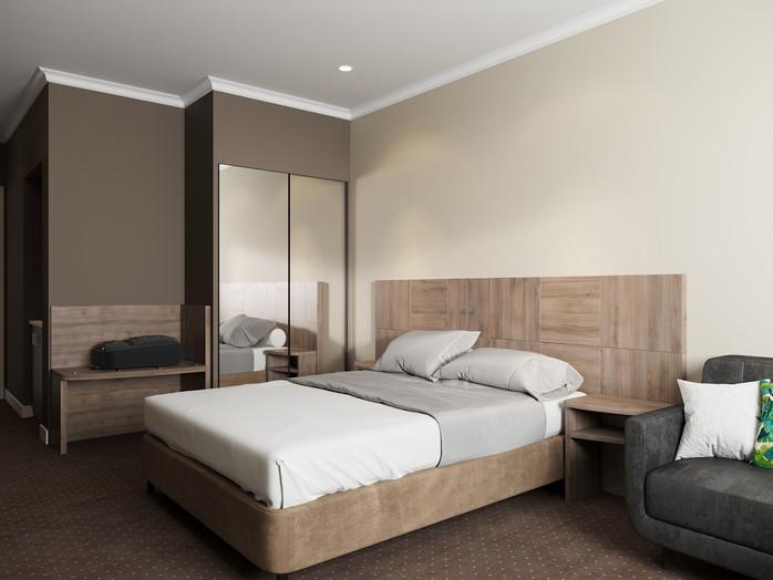 Block-work Hotel Room Furniture Package