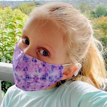 Colour Burst Tie Dye Pink Face Mask