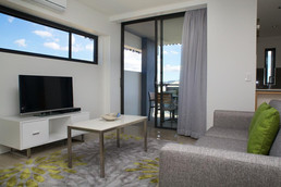 serviced apartment living area furniture
