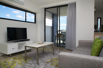 serviced apartment living area furniture