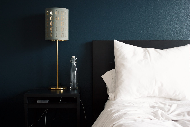Metallic Bedside Table Lamp