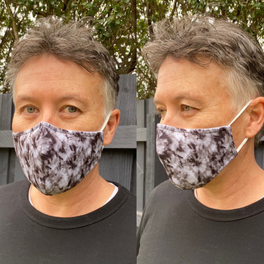 To Dye Flor Black Face Mask