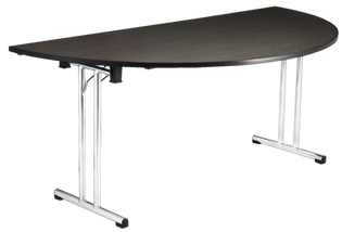 Half Round Table with Chrome Folding Legs