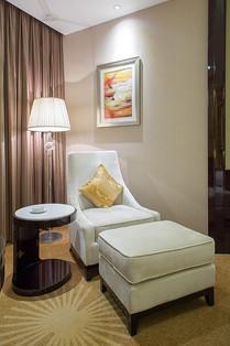 Custom hotel armchair