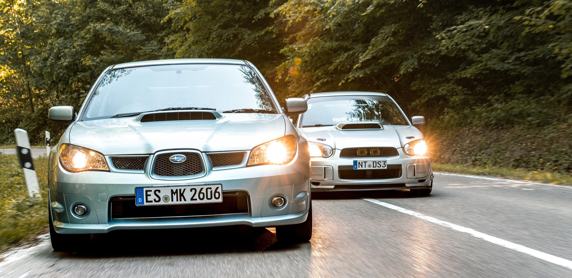 Subaru WRX in zwei Generationen