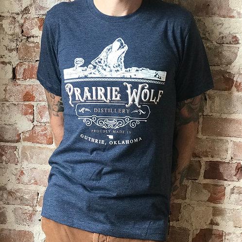 Dark Blue Prairie Wolf shirt