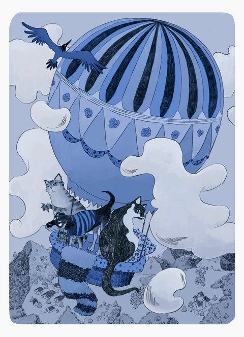 Pets Airhotballoon Blue