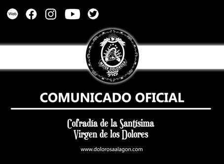 COMUNICADO OFICIAL: ACTA DE JUNTA DE GOBIERNO EXTRAORDINARIA. 18/04/2020