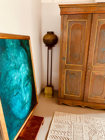 La chambre au Boudha turquoise