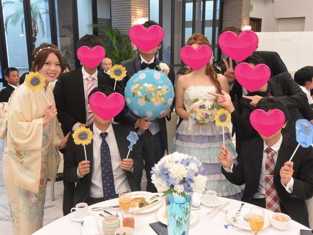 8月 友人結婚式