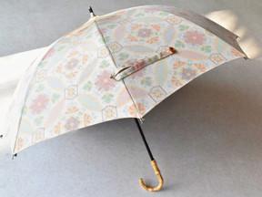 2月 着物で日傘