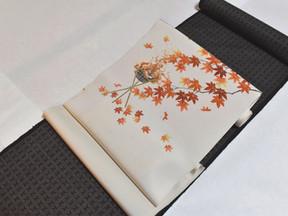10月 秋の染め帯