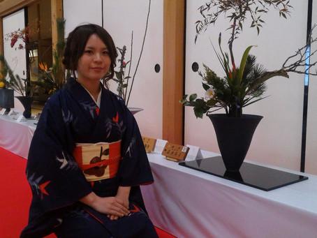 1月 佐賀城で華展