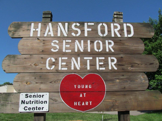 Visiting with the Young at Heart at Hansford Senior Center.