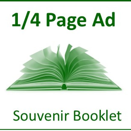 Quarter Page Ad - Souvenir Booklet