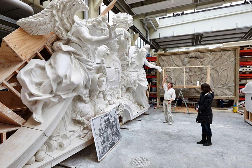 Berlin, Spandau, Werkstatt Skulpturen Berliner Schloß (Berlin) Januar 2015