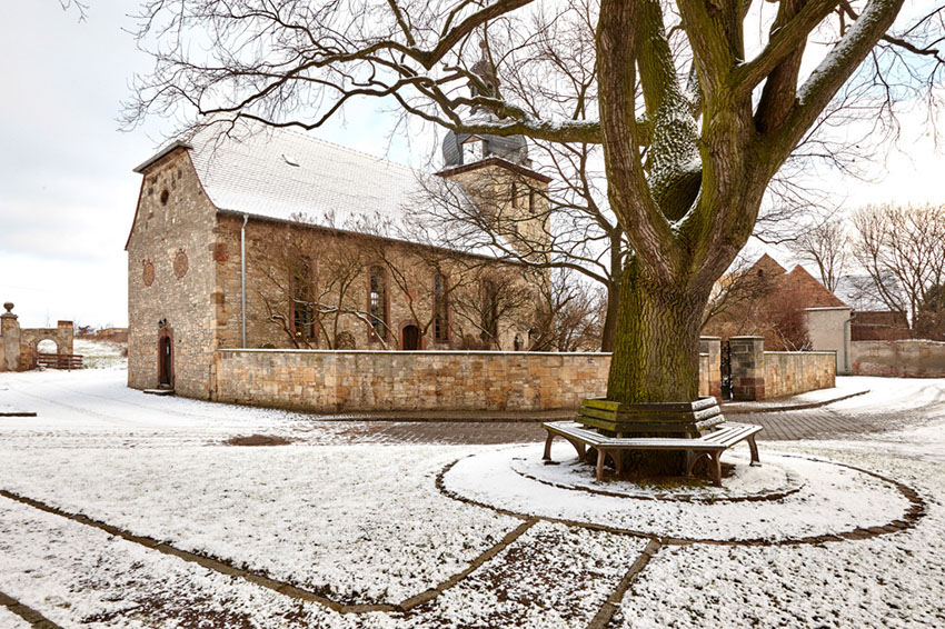 Schmirma, Dorfkirche (Sachsen-Anhalt); Januar 2015