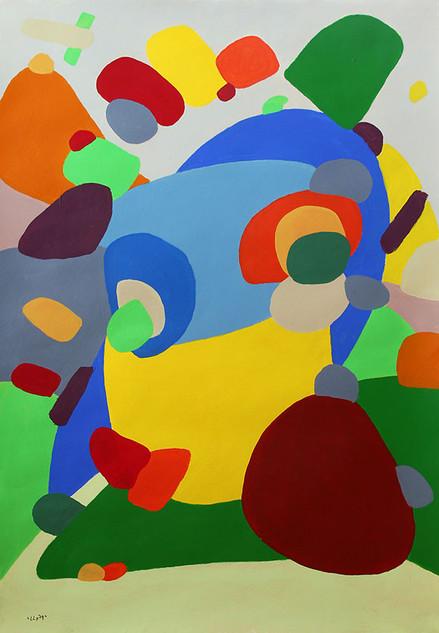 Der Hase und der Igel (rabbit and hedgehog) 70x100cm | 2015 | 800 Euro