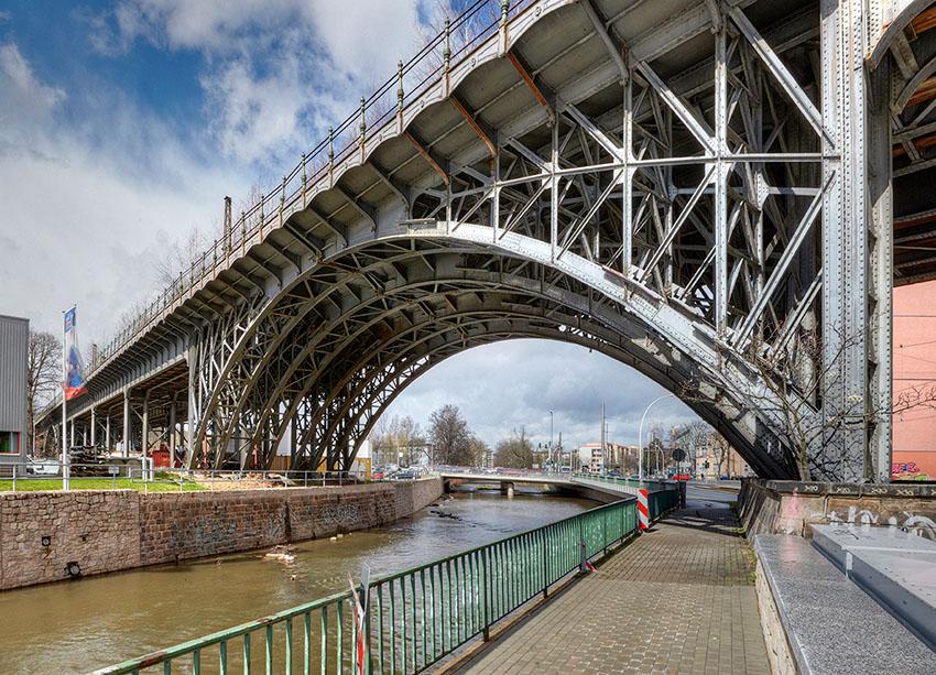 Chemnitz; Viadukt (Sachsen) April 2015