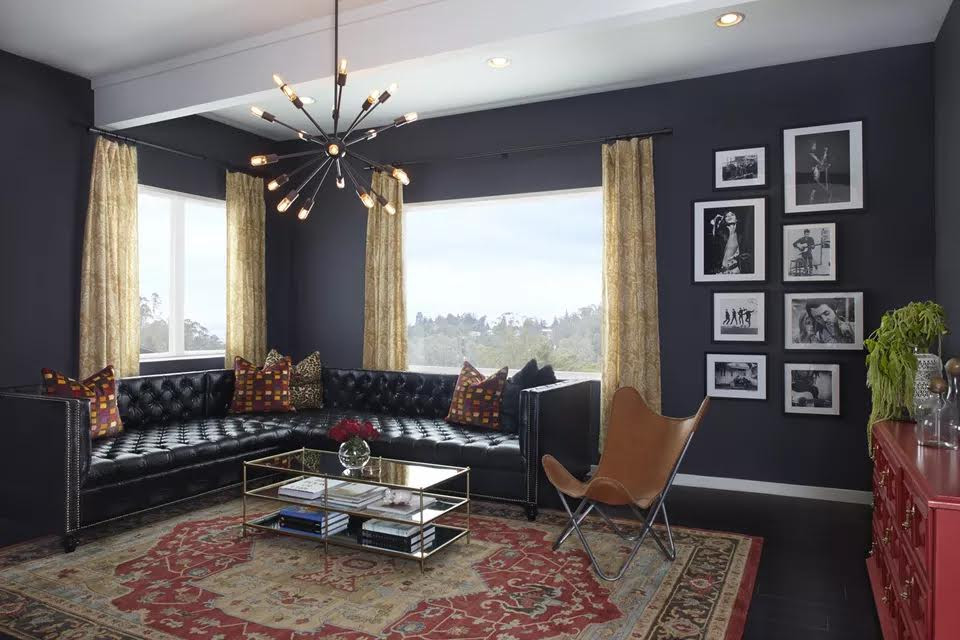 WHITE AND BALCK LIVING ROOM DESIGN