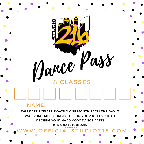 8 CLASSES - DANCE PASS