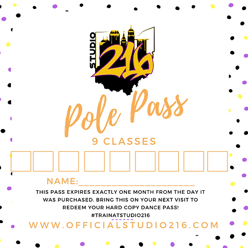 9 CLASSES - POLE PASS