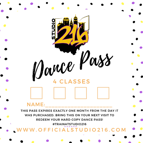4 CLASSES - DANCE PASS